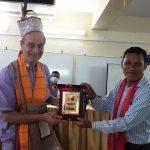 বাংলাদেশ আচিক সাহিত্য-সাংস্কৃতিক সংসদ কর্তৃক ব্রাদার গিয়োমকেসংবর্ধনা প্রদান