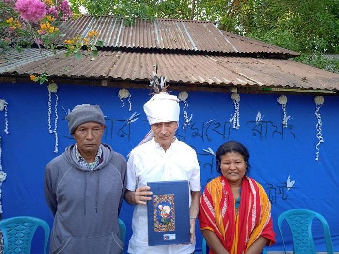 আসকি পাড়ায় ব্রাদারকে সম্মাননা